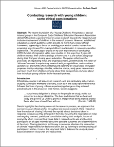 ethical considerations essay In this paper, we investigate ethical issues involved in the development and implementation of internet voting technology from a phenomenological perspective, we describe how voting via the internet mediates the relation between people and democracy in this relation, trust plays a major role the dynamics of trust in the.