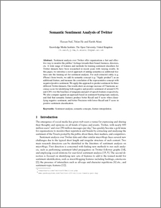Research papers on sentiment analysis