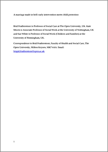 Early intervention research paper