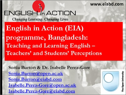 English in Action (EIA) programme, Bangladesh: teaching and learning