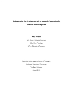 Phd thesis on social networking