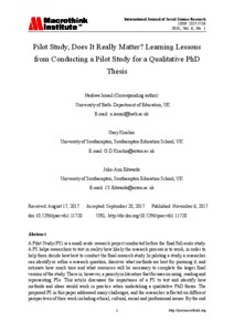 Qualitative phd thesis structure
