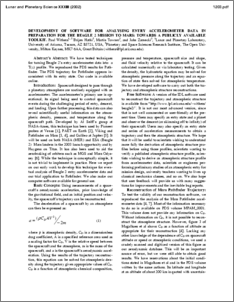 Development of software for analysing entry accelerometer data in