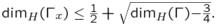 $\dim_H(\Gamma_x)\leq \frac{1}{2}+\sqrt{\dim_H(\Gamma){-}\frac{3}{4}}.$