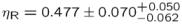 $\eta _{\rm R} = 0.477 \pm 0.070 ^{+0.050}_{-0.062}$