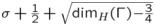 $\sigma+\frac{1}{2}+\sqrt{{\dim_H}{(\Gamma)}{-}{\frac{3}{4}}}$