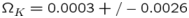 ${\Omega}_K =0.0003+/-0.0026$
