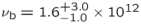 ${\nu }_{{\rm{b}}}={1.6}_{-1.0}^{+3.0}\times {10}^{12}$