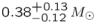 ${0.38}_{-0.12}^{+0.13}\,{M}_{\odot }$