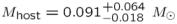 ${M}_{\mathrm{host}}={0.091}_{-0.018}^{+0.064}\ {M}_{\odot }$