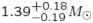 $1.39^{+0.18}_{{-}0.19} M_{\odot}$