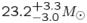 $23.2_{-3.0}^{+3.3}M_{\odot}$