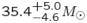 $35.4_{-4.6}^{+5.0}M_{\odot}$