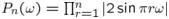 $P_{n}(\omega)=\prod_{r=1}^{n}|2\sin\pi r\omega|$