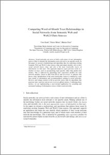 Semantic Web And Social Networks Pdf