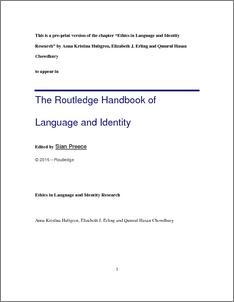 Language And Identity Pdf